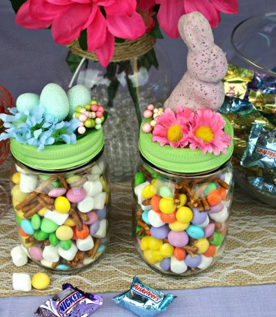 DIY Decorative Easter Candy Jars