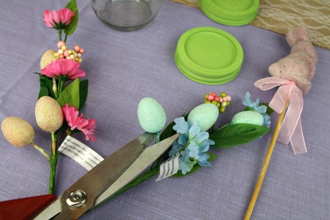trim easter floral sprigs
