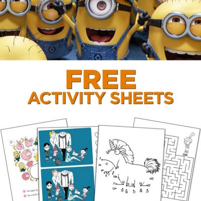 Despicable Me 3 Printable Activity Sheets