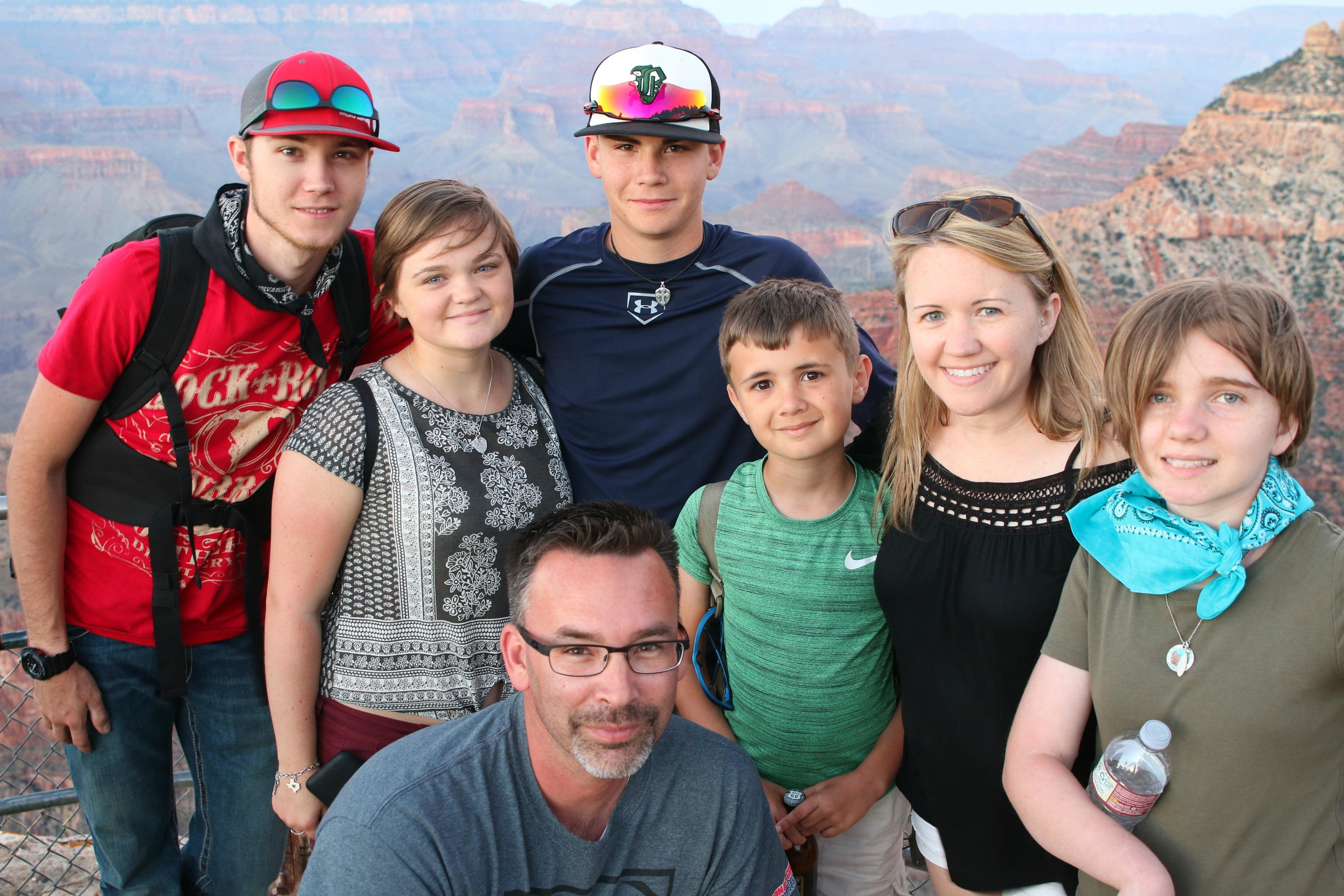 Perrin Johns Family at Grand Canyon