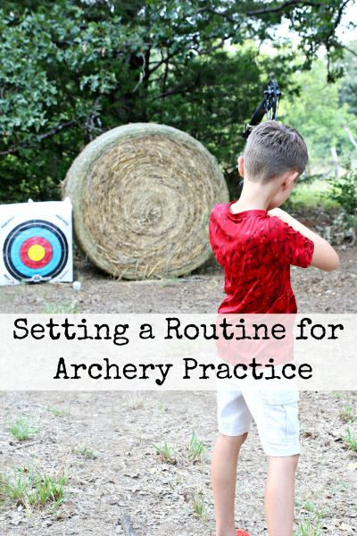 Setting a Routine for Archery Practice