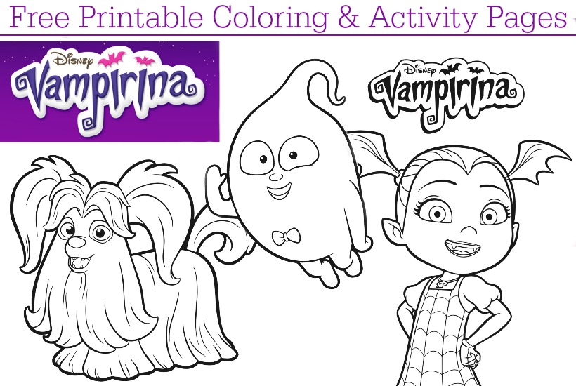 Disney Junior Vampirina Coloring Pages Dvd Giveaway