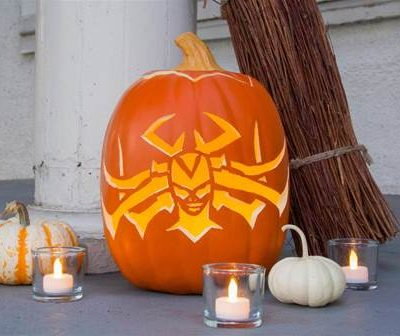 hela inspired pumpkin carving