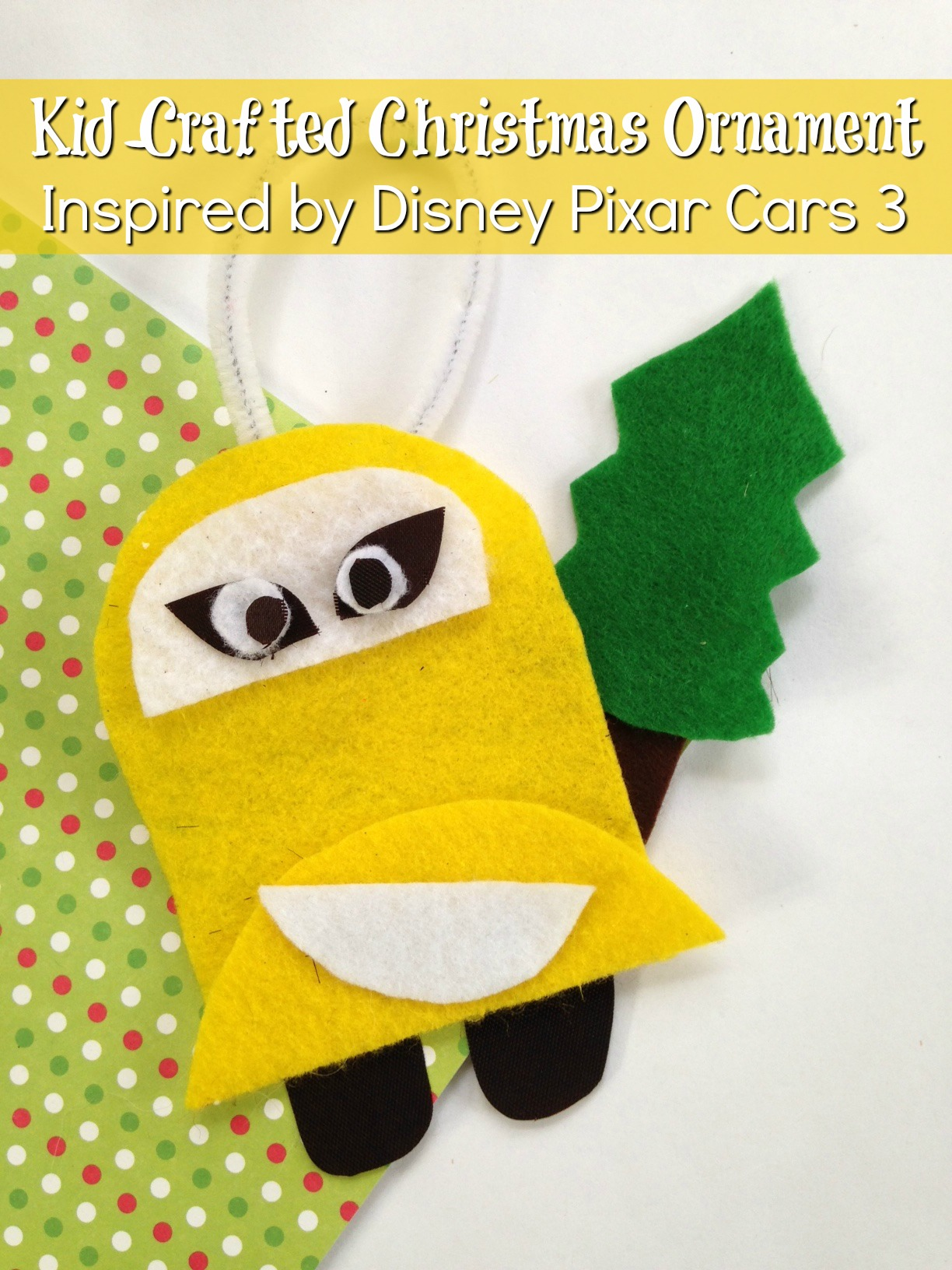 Cars 3 Christmas Ornament DIY