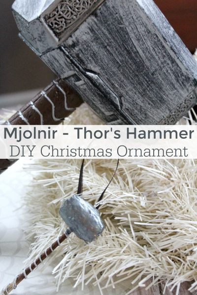 DIY Thor Hammer Christmas Ornament