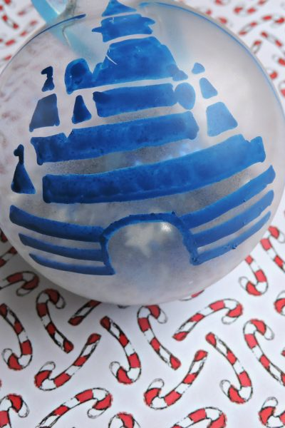 DIY Disney Castle and Snow White Christmas Ornaments