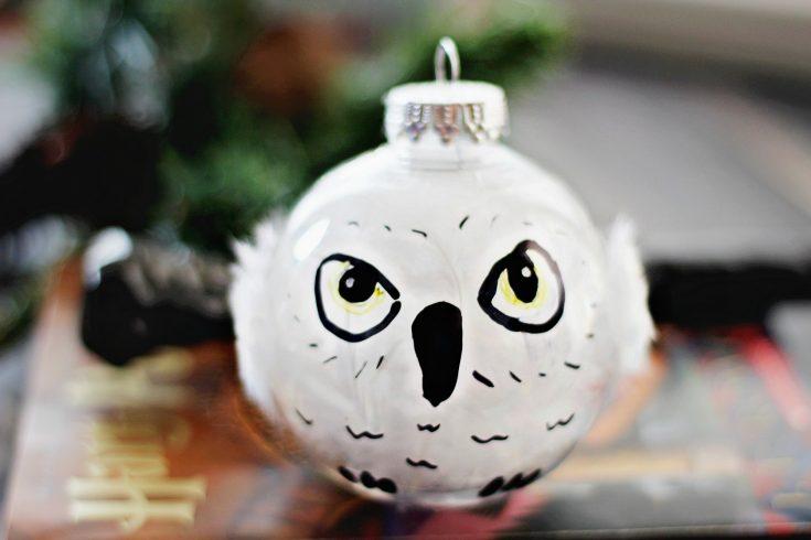 DIY Harry Potter Hedwig Christmas Ornament