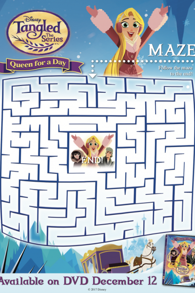 Tangled: The Series Queen for a Day + Ducktales: Woo-Oo Printable Activity Sheets