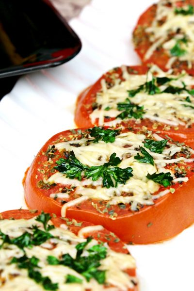 Baked Parmesan Herb Tomatoes