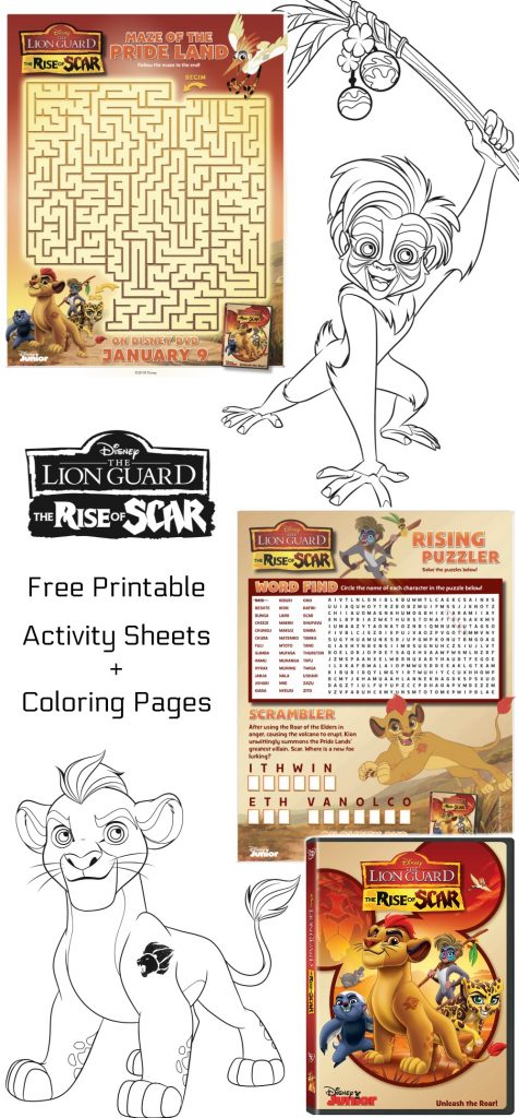 Free Printable Disney The Lion Guard Coloring Pages