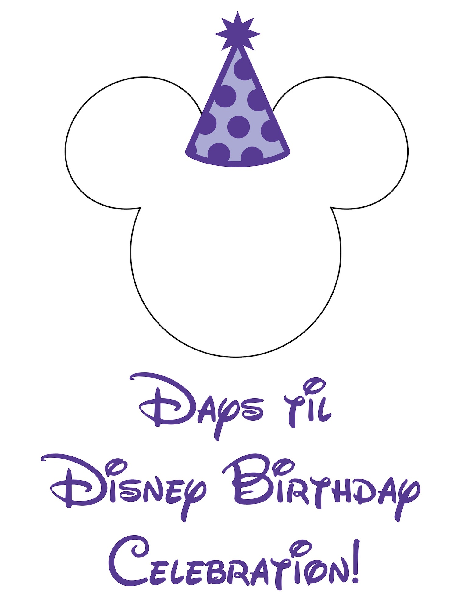 graphic about Disney Countdown Printable known as No cost Disney World-wide Countdown Printable - Lifetime. Spouse and children. Contentment