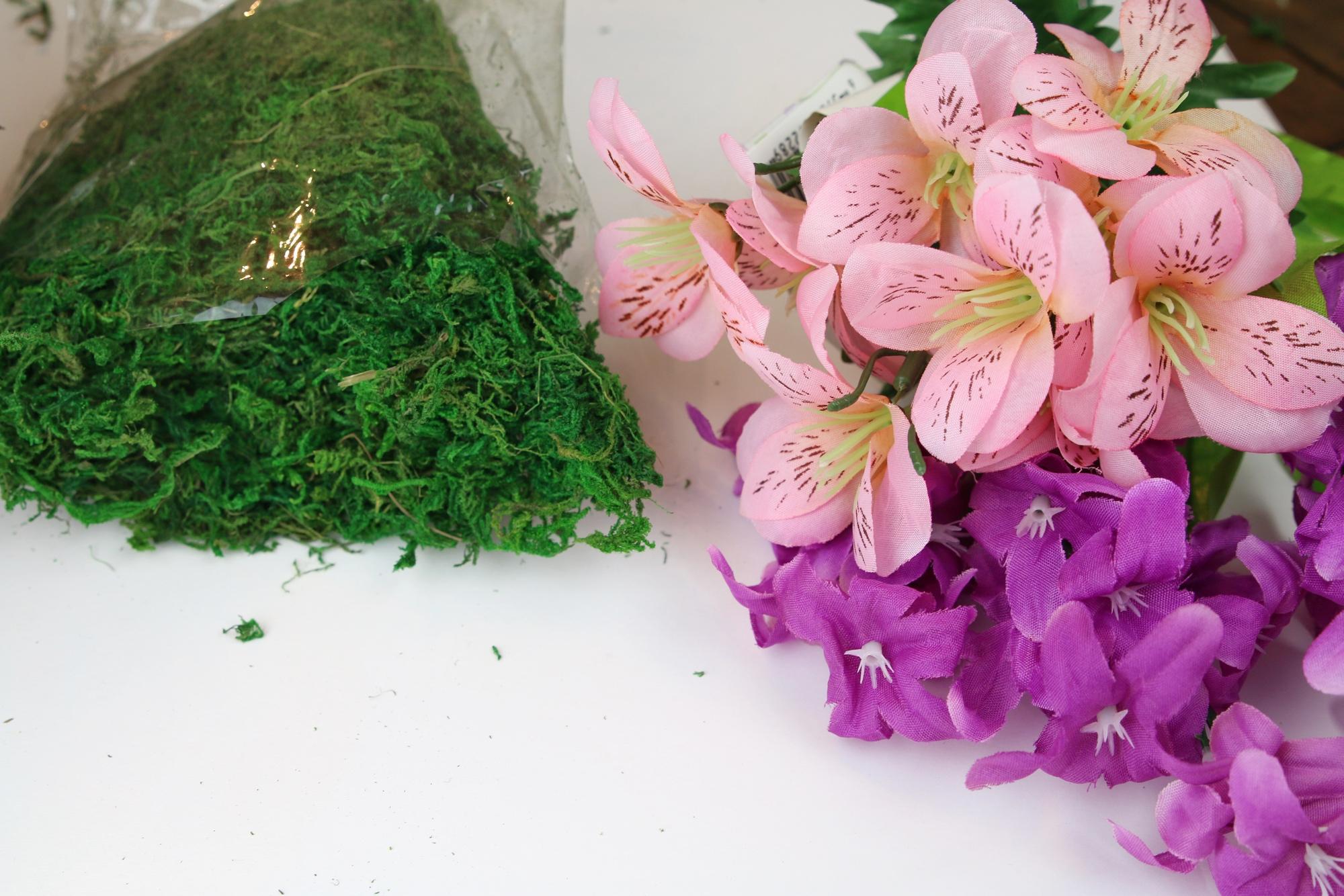 flower easter basket supplies