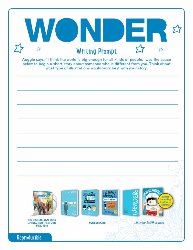 Printable Wonder Activity Sheets Bluray Giveaway Life Family Joy