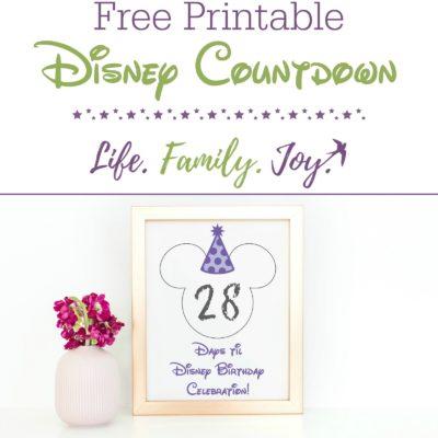Free Disney World Countdown Printable