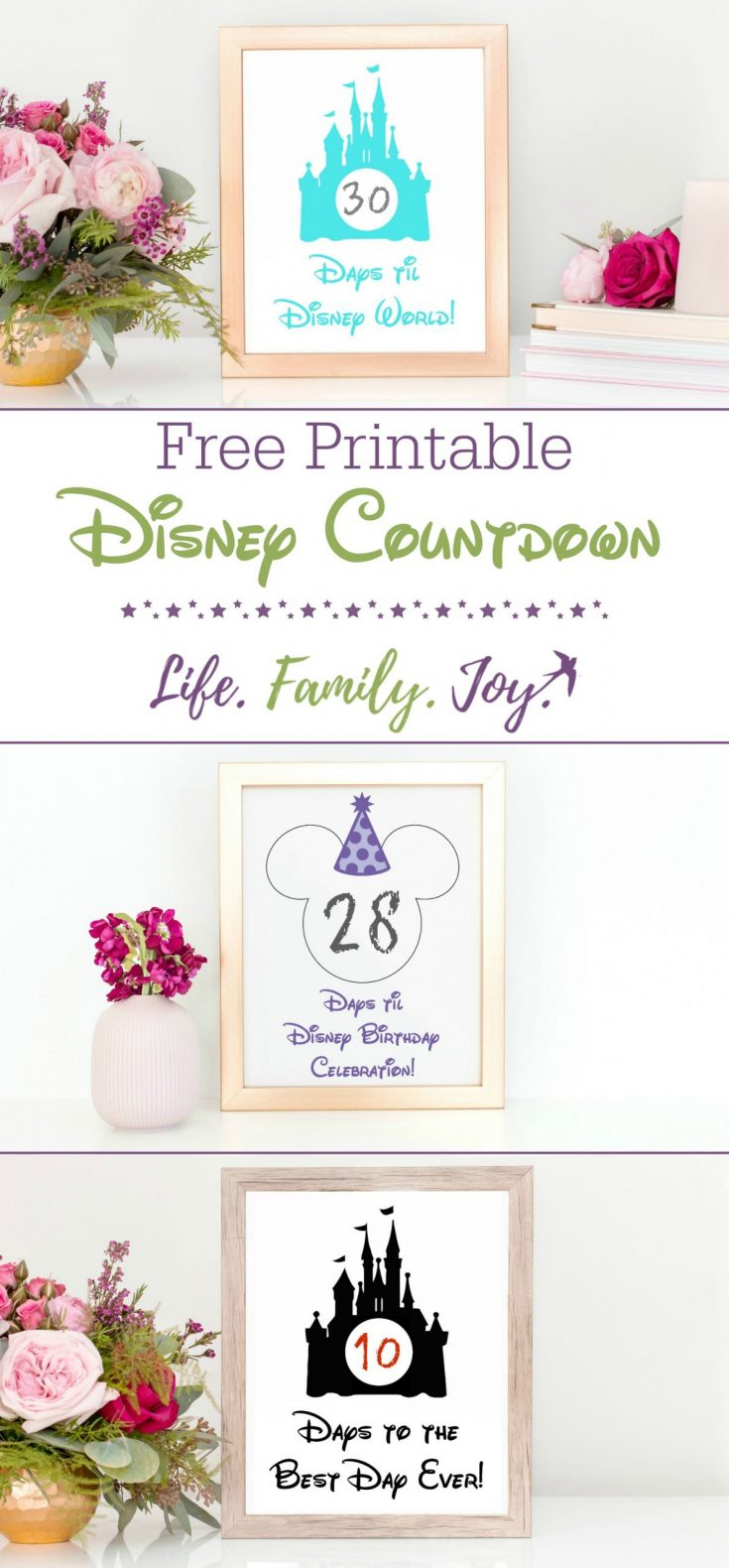 Free Disney World Countdown Printable