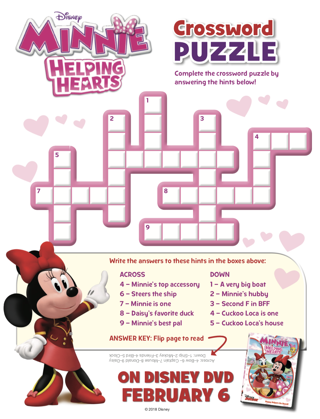 Free Printable Minnie Mouse Activity Sheets + Minnie: Helping Hearts ...