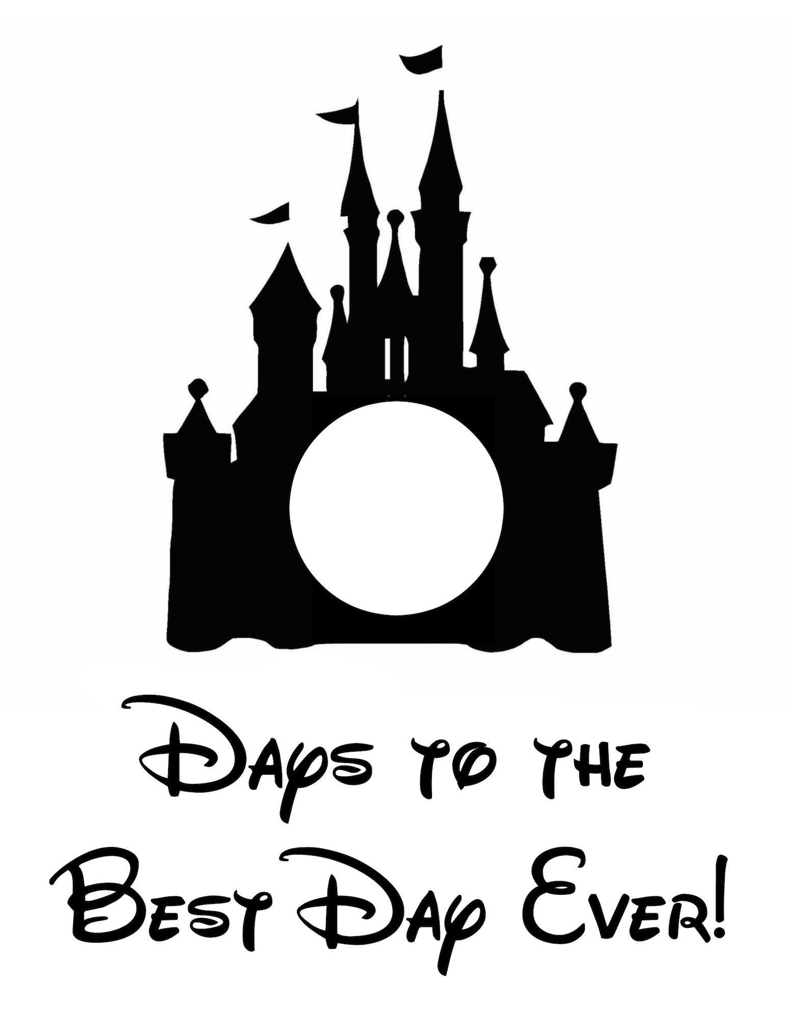 Free Disney World Countdown Printable - Life. Family. Joy