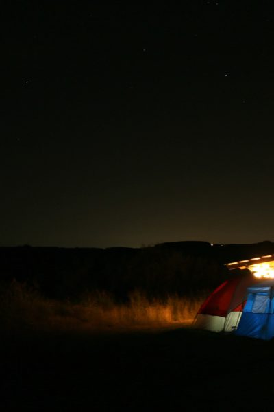 Camping date night in Palo Duro Canyon