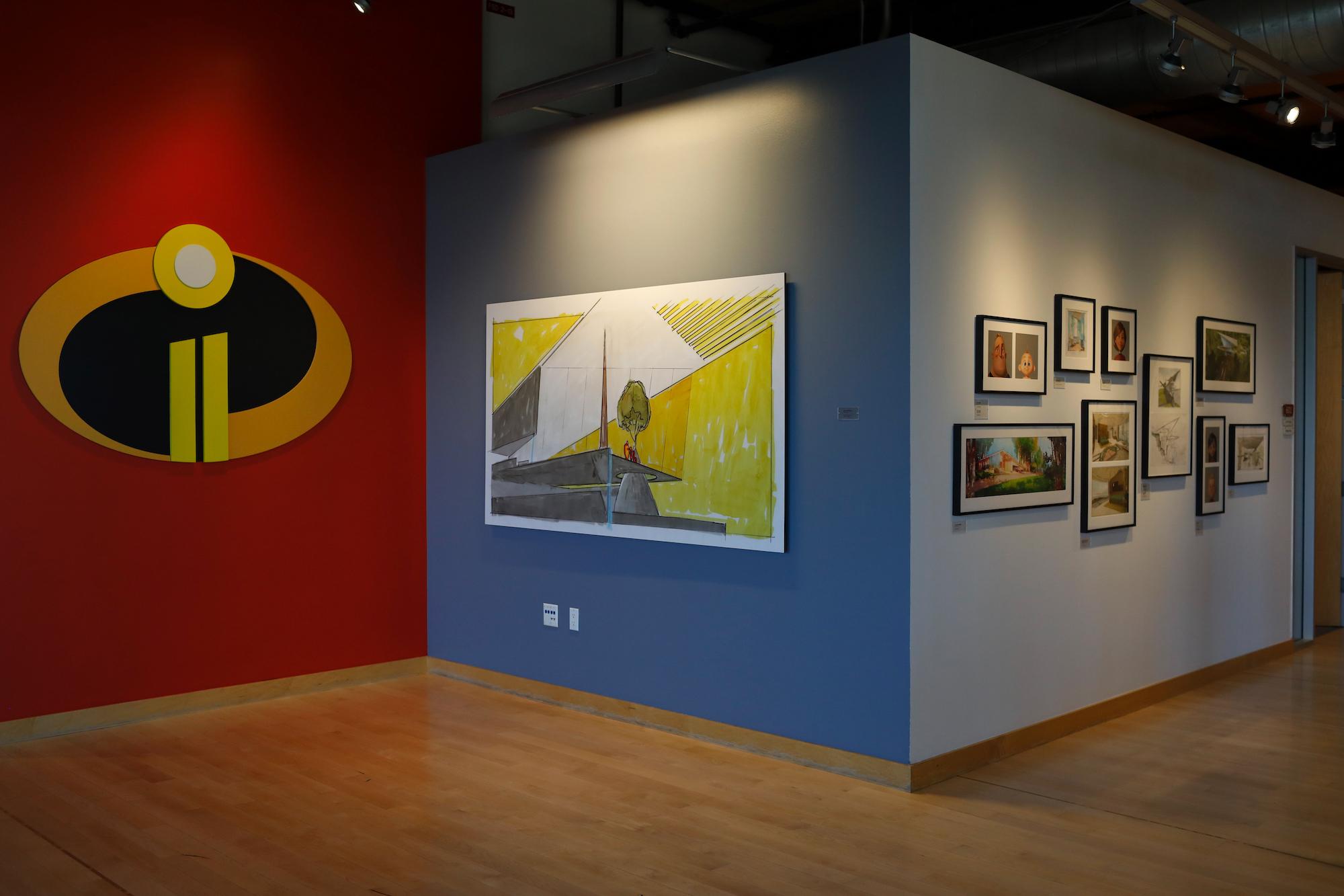 Pixar Studios Incredibles 2 painted walls