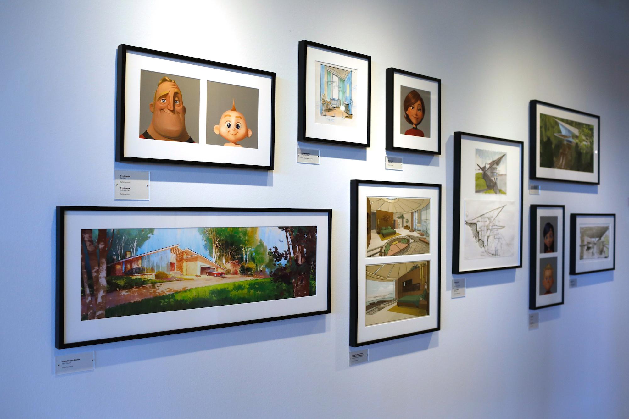 Incredibles 2 Art Gallery at Pixar