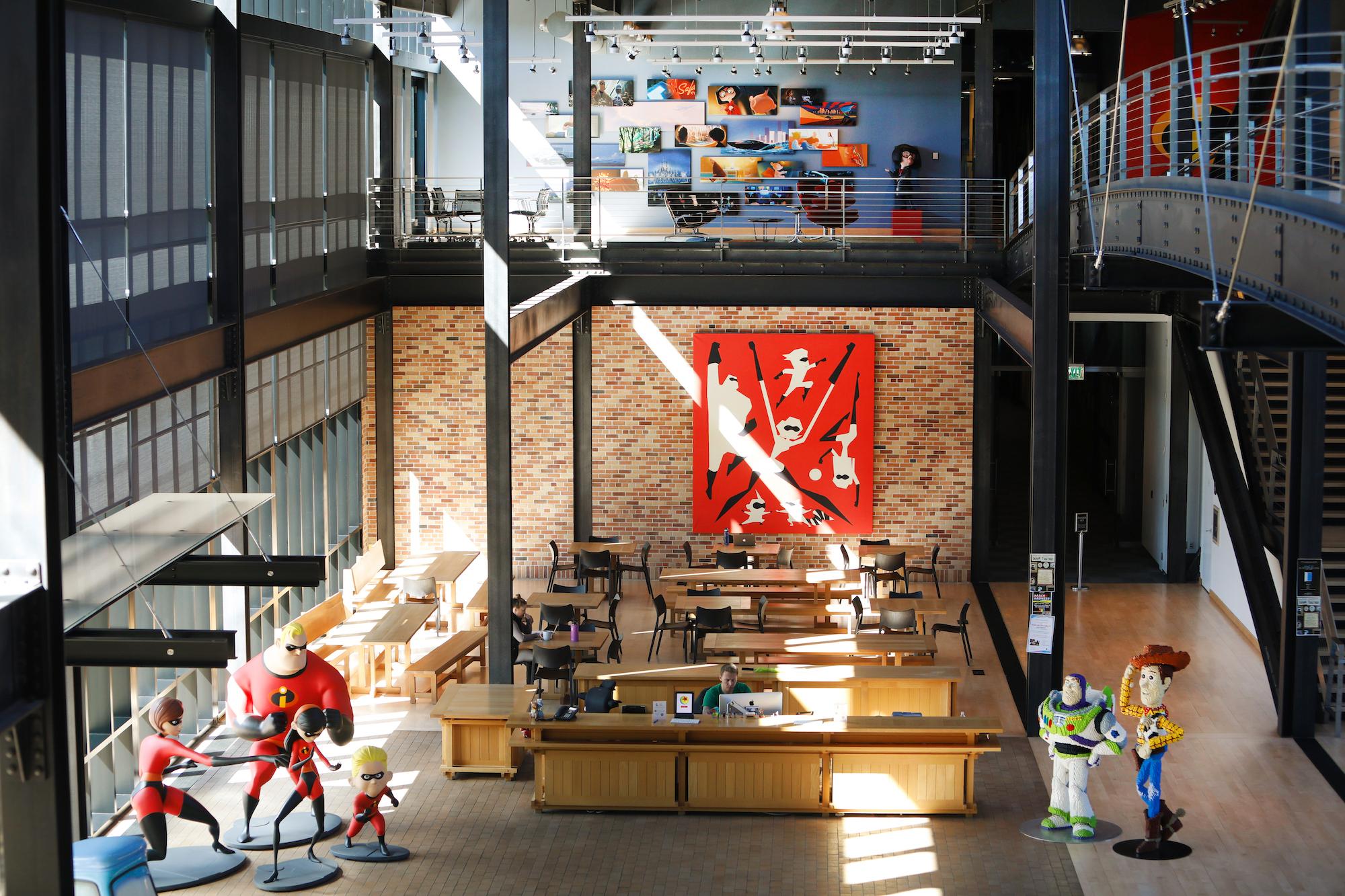 Incredibles 2 Concept Art in Steve Jobs Building