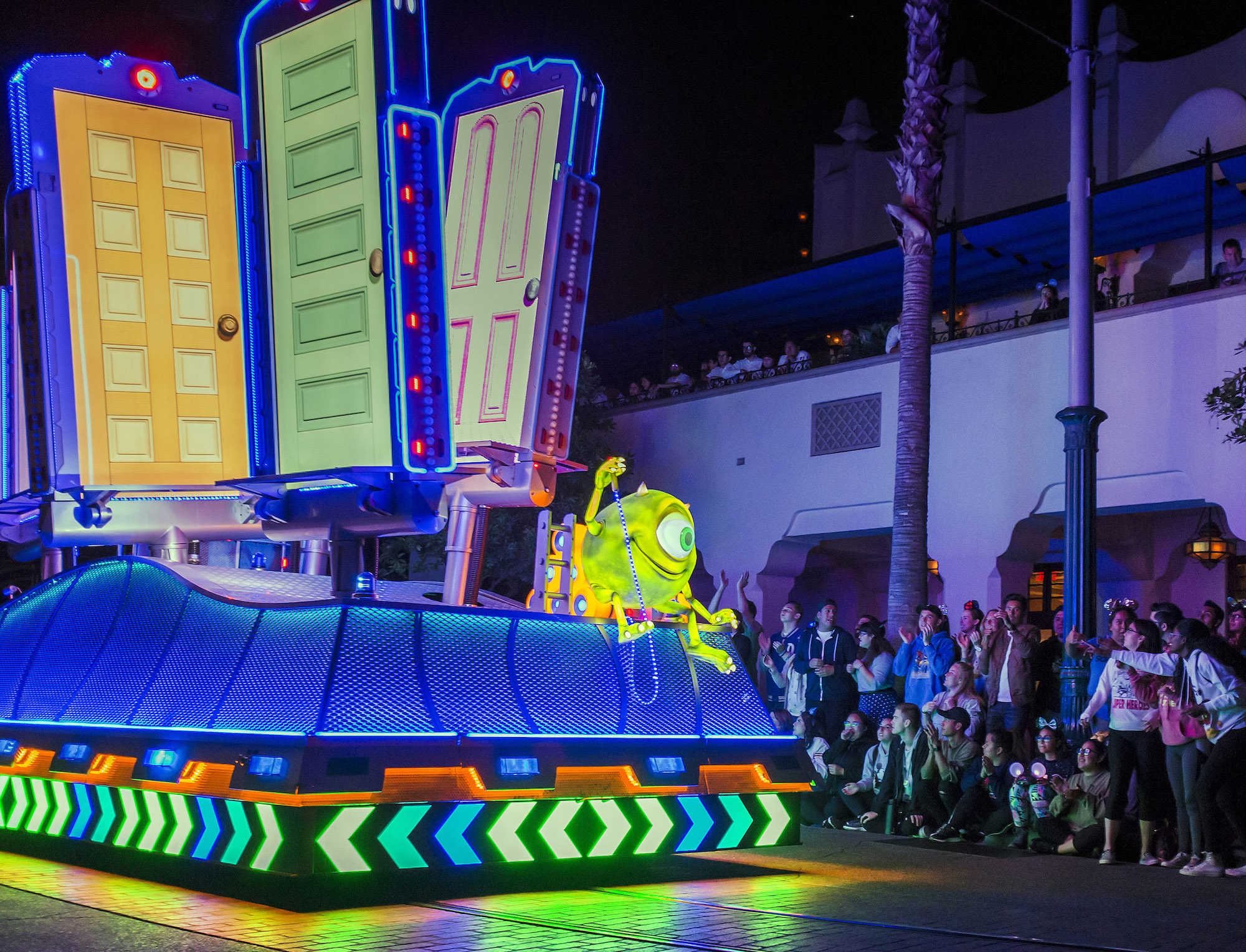 Paint the Night Parade Monsters Inc float