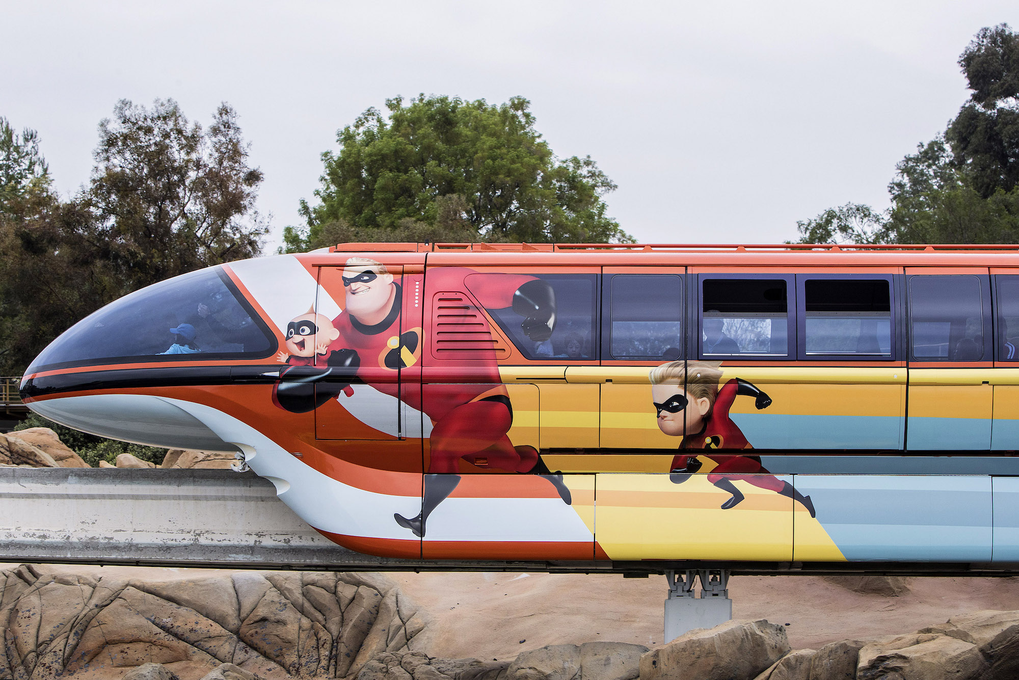 Pixar Fest Monorail - Incredibles 2 theme