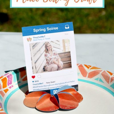 DIY Paper Flower Spring Place Setting Craft