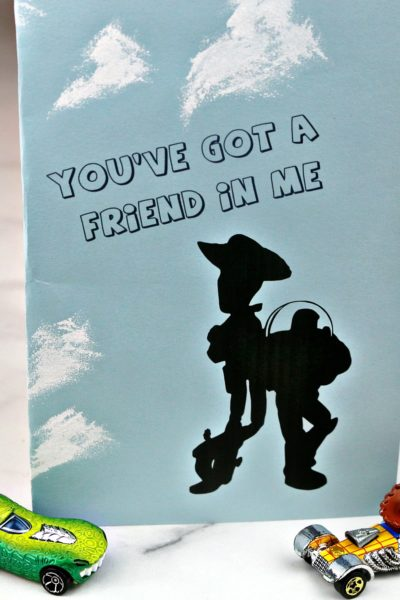 Printable Toy Story Craft – You've Got a Friend In Me Card