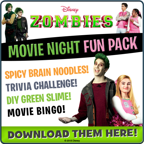 disney zombies movie night plan