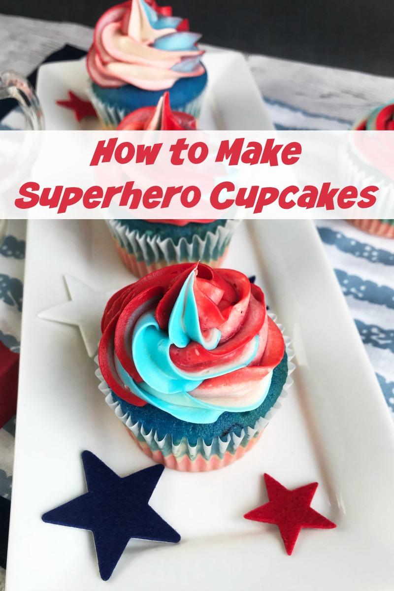 How to Make Superhero Cupcakes