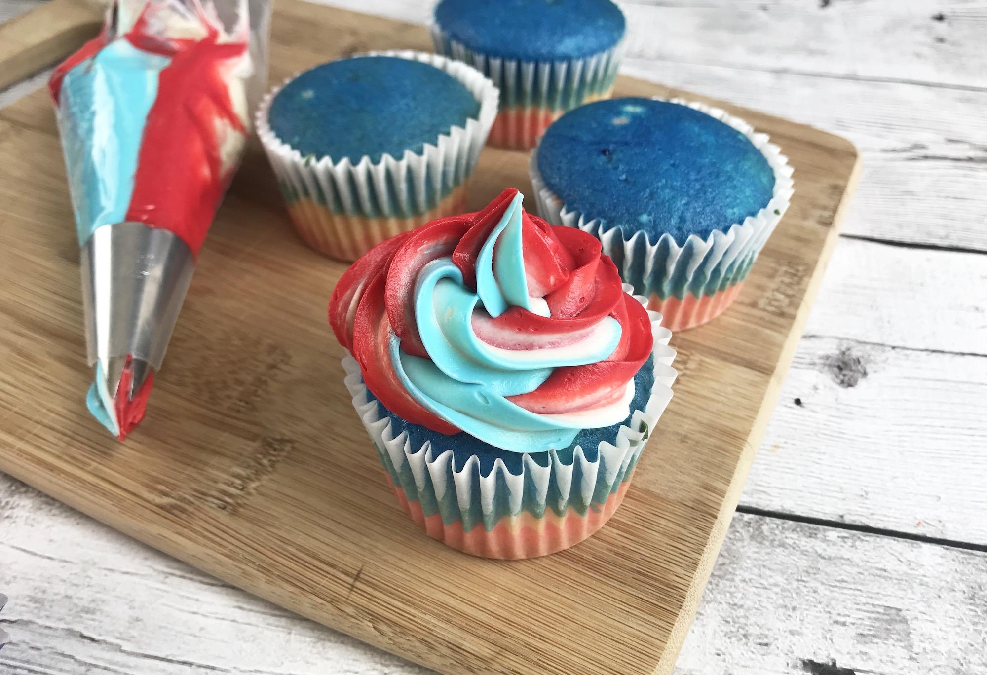 how to decorate a superhero cupcake