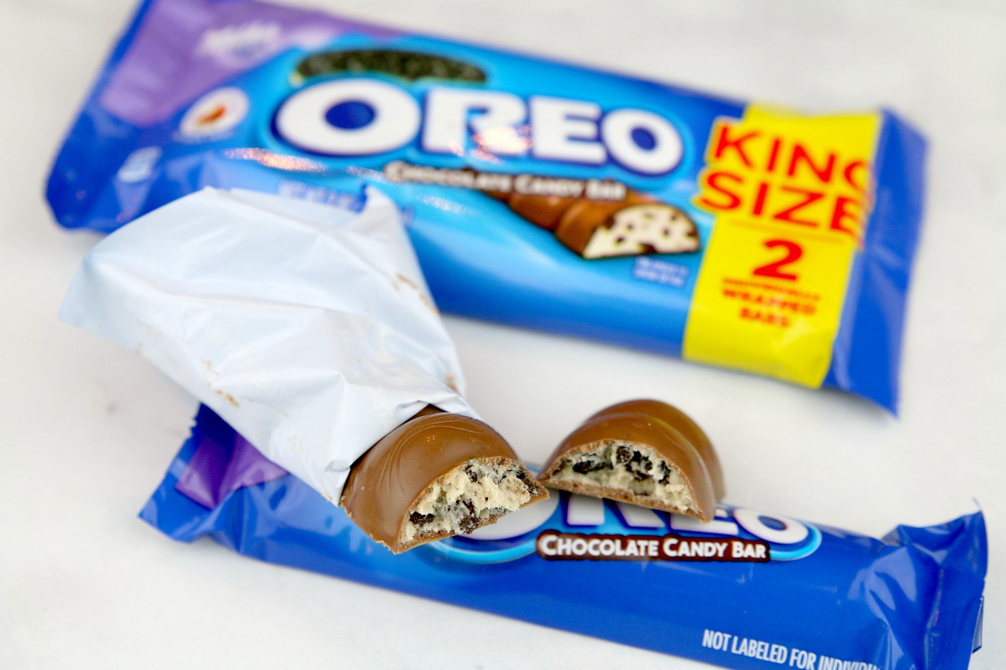 Inside an Oreo Chocolate Candy Bar