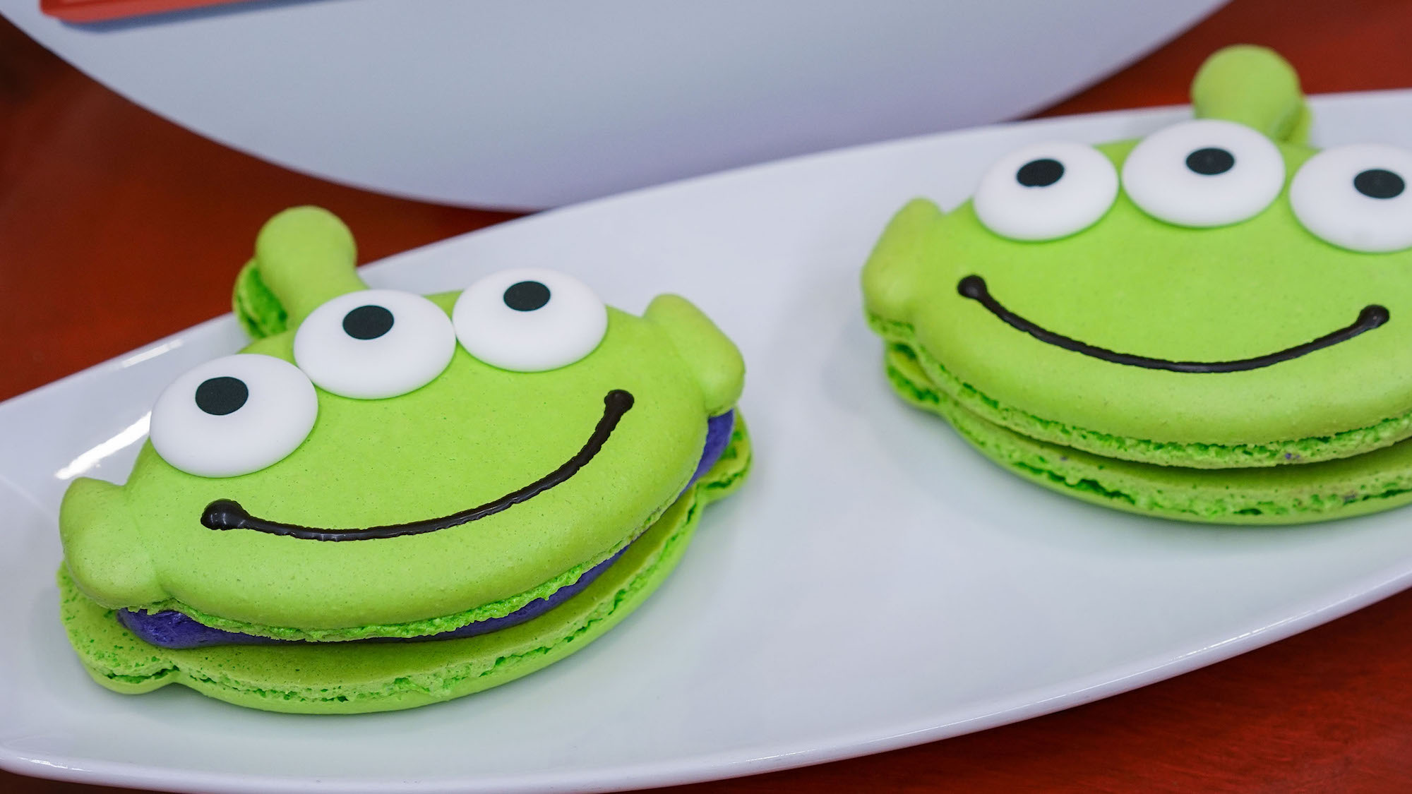 Toy Story green alien macaroons at Disneyland