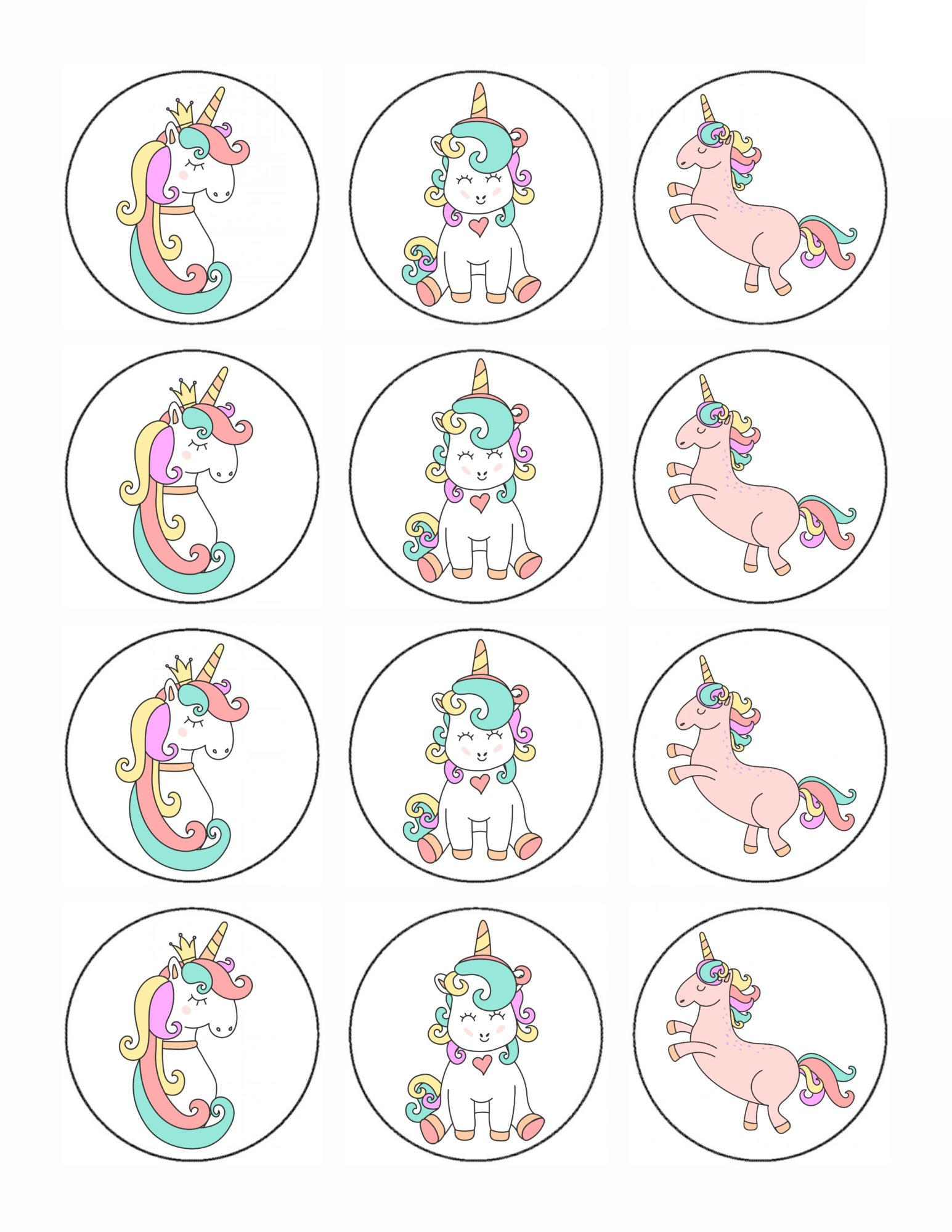Printable Unicorn party decor