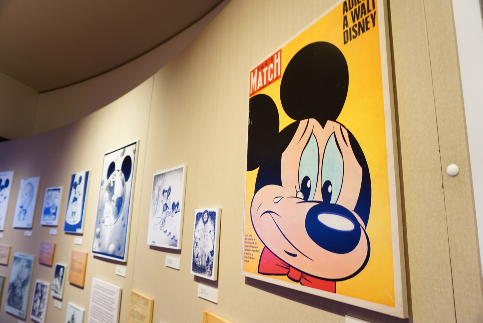artwork inspired from Walt Disney's death