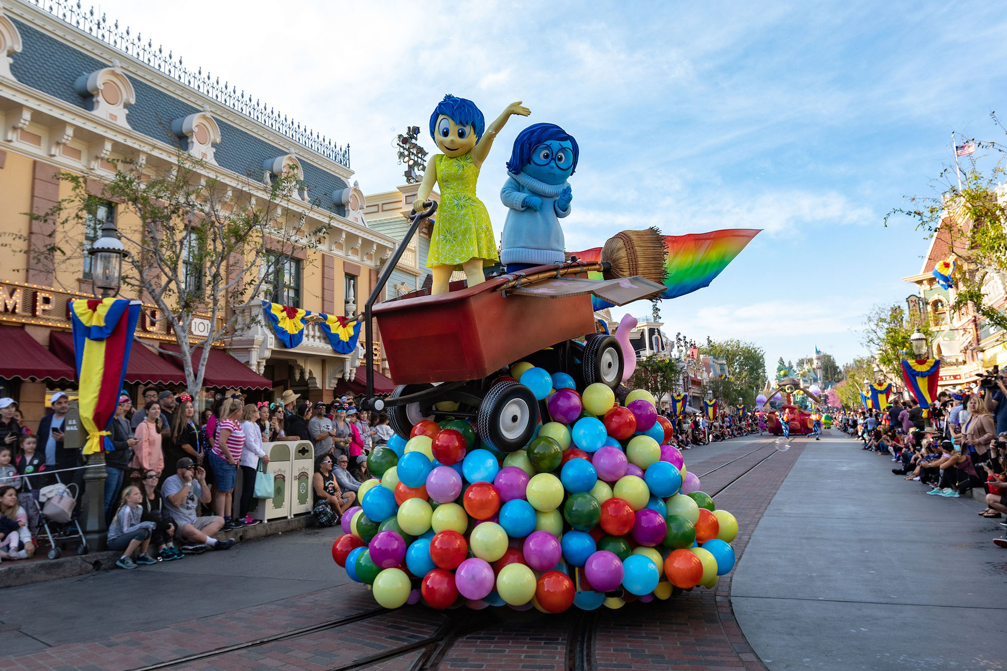 Inside Out Pixar Play Float at Disneyland