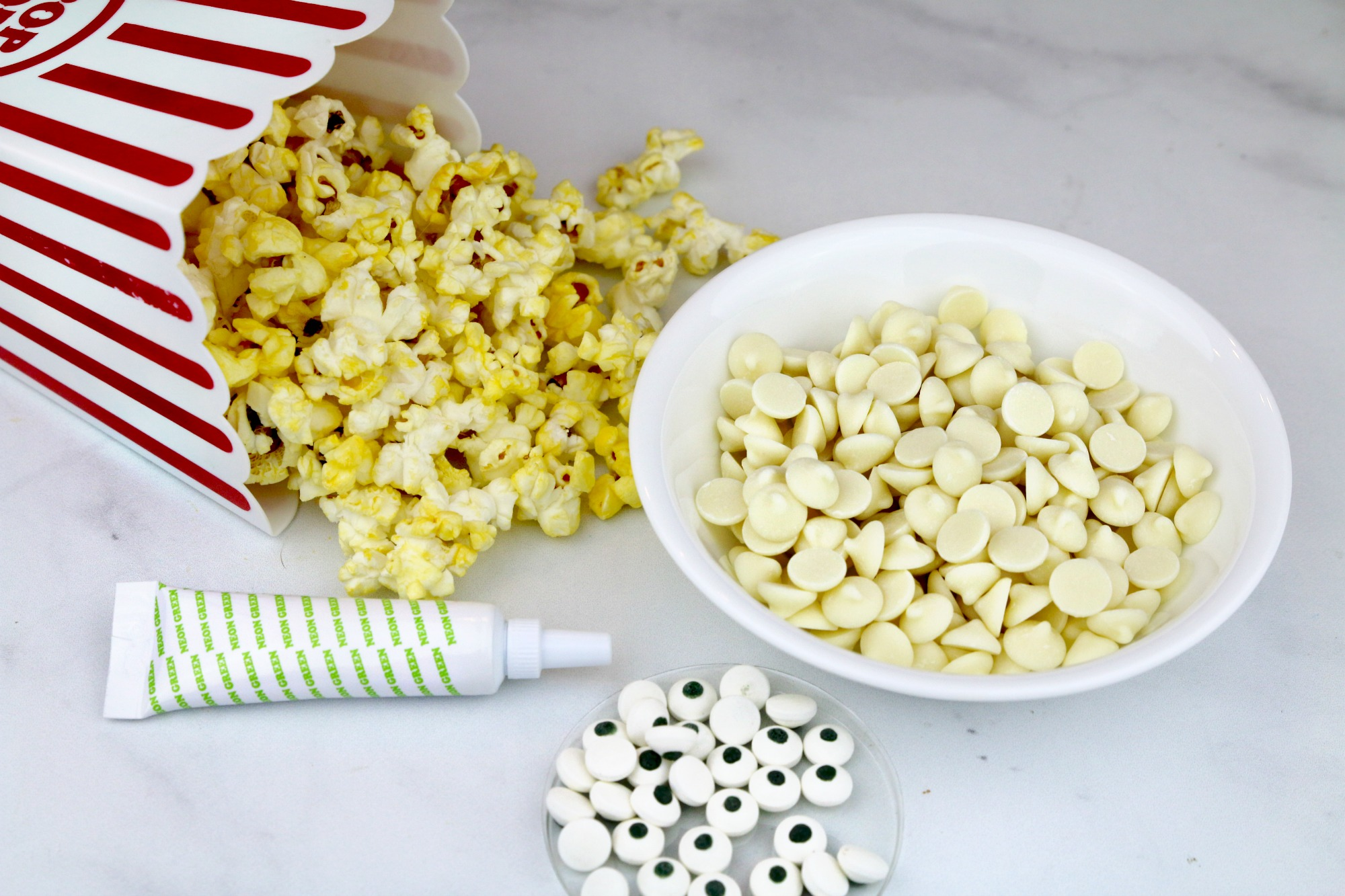 chocoalte covered popcorn ingredients