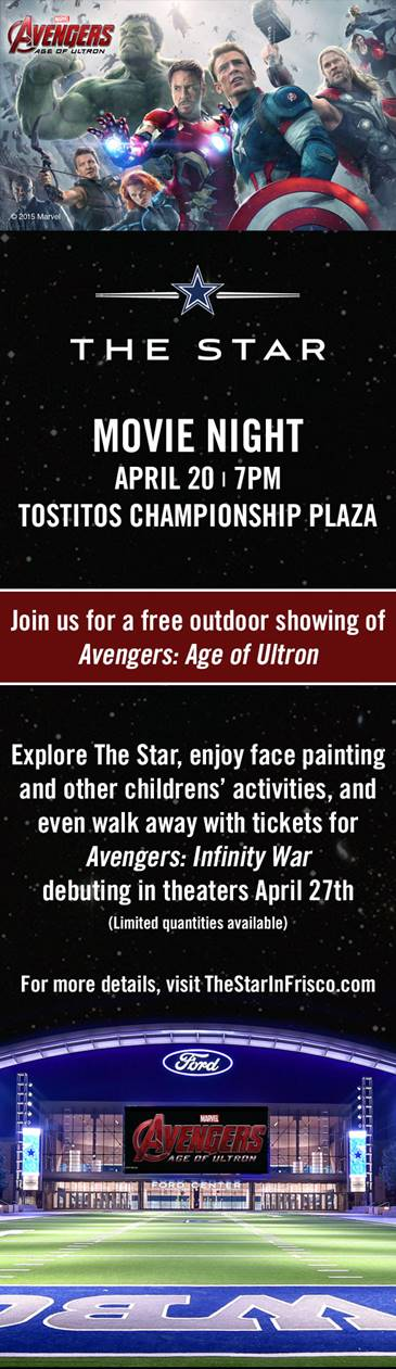 Avengers Infinity War Event in Dallas