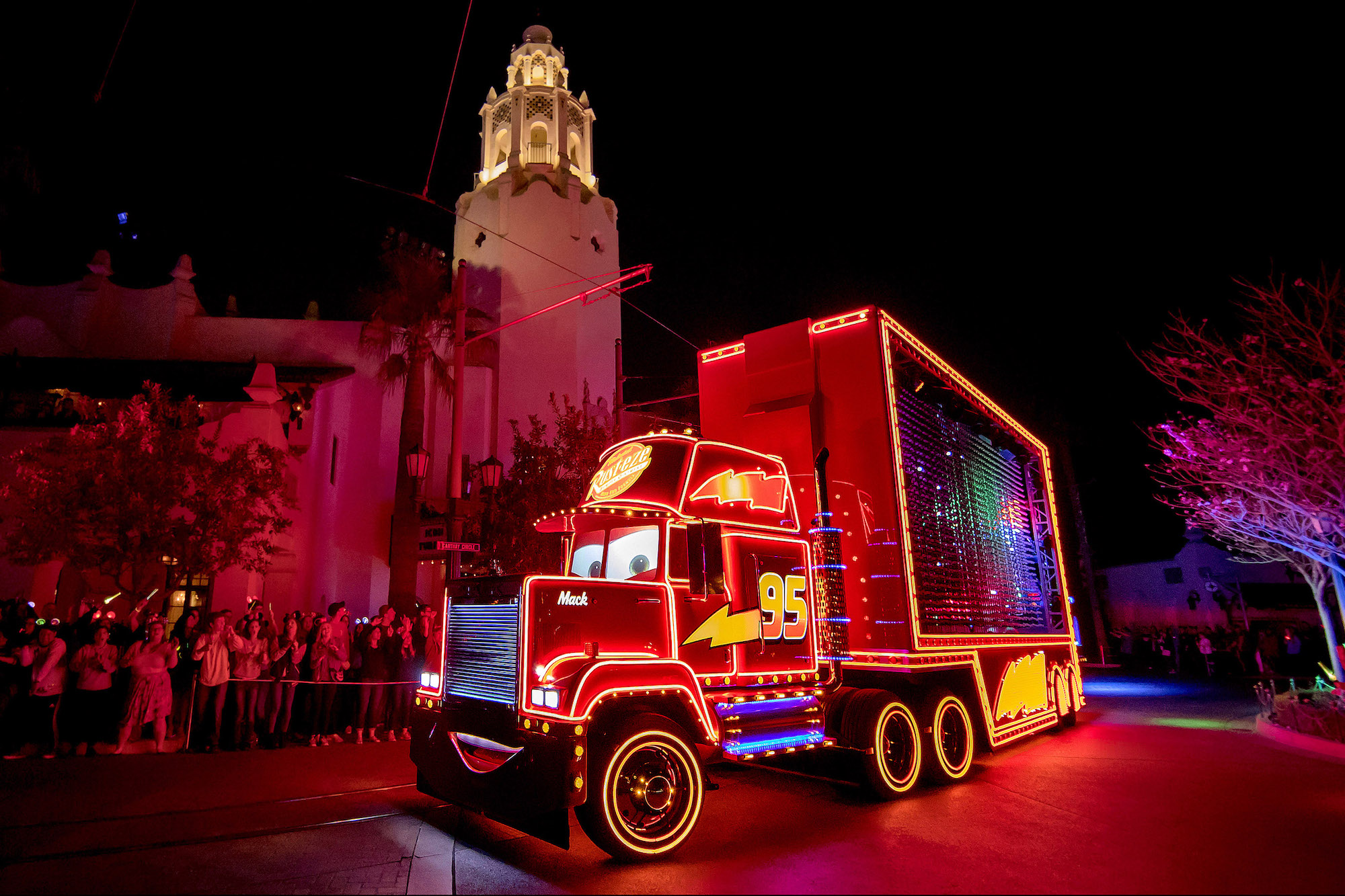 Disney Pixar Cars Mack in Paint the Night Parade