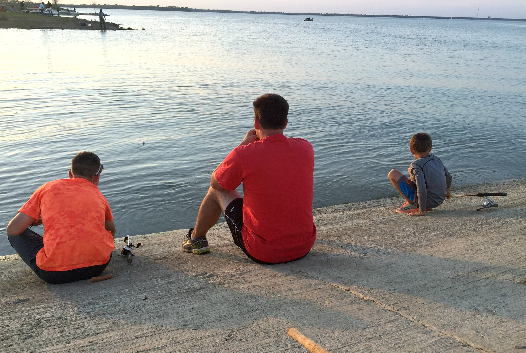 father and son bonding over fishing