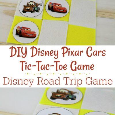DIY Disney Pixar Cars Tic-Tac-Toe Game – #PixarFest