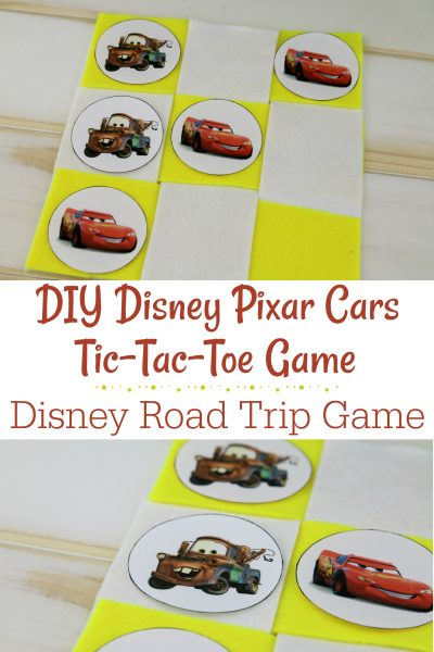DIY Disney Pixar Cars Tic Tac Toe Game