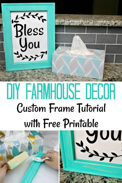 DIY Farmhouse Decor – Custom Frame Tutorial with Printable