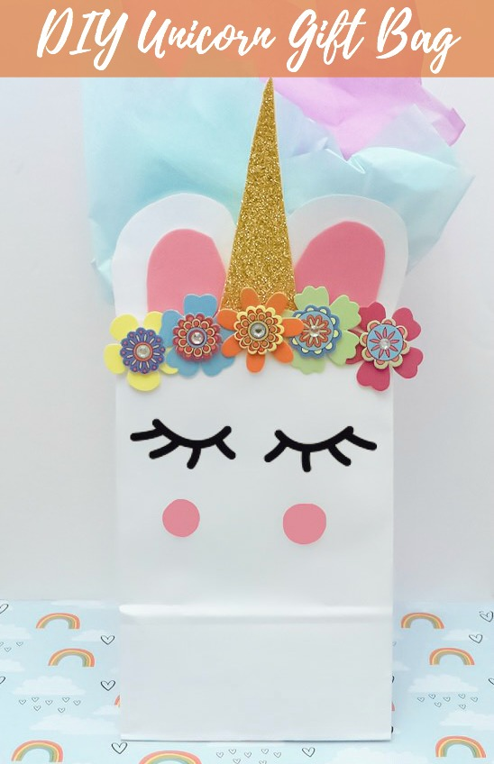 DIY Unicorn Gift Bag - Dollar Store Craft