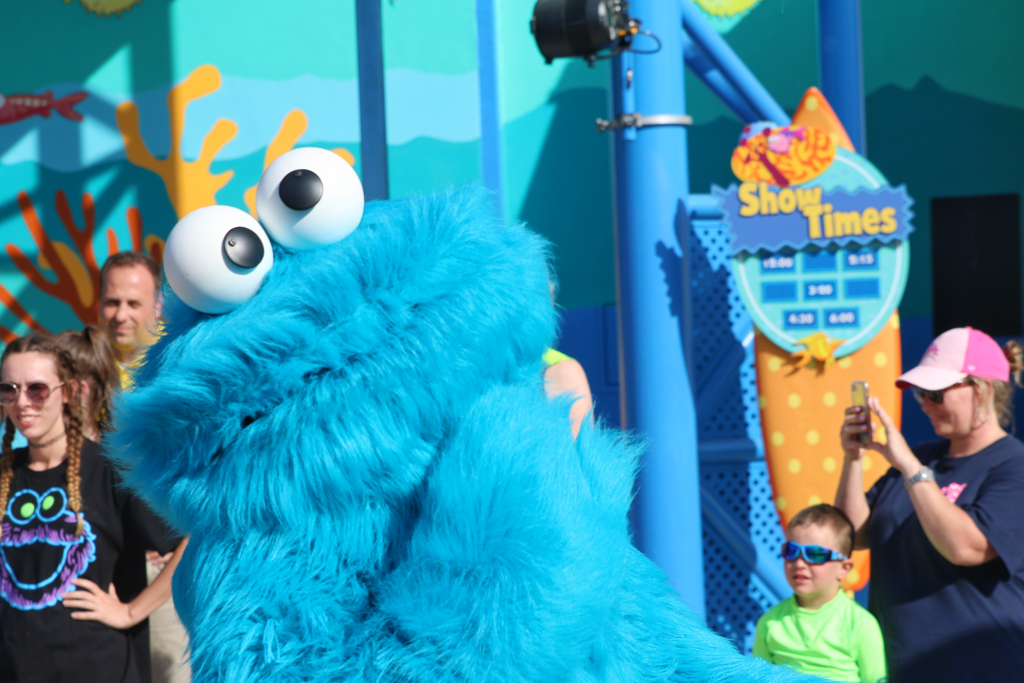 Cookie Monster in parade
