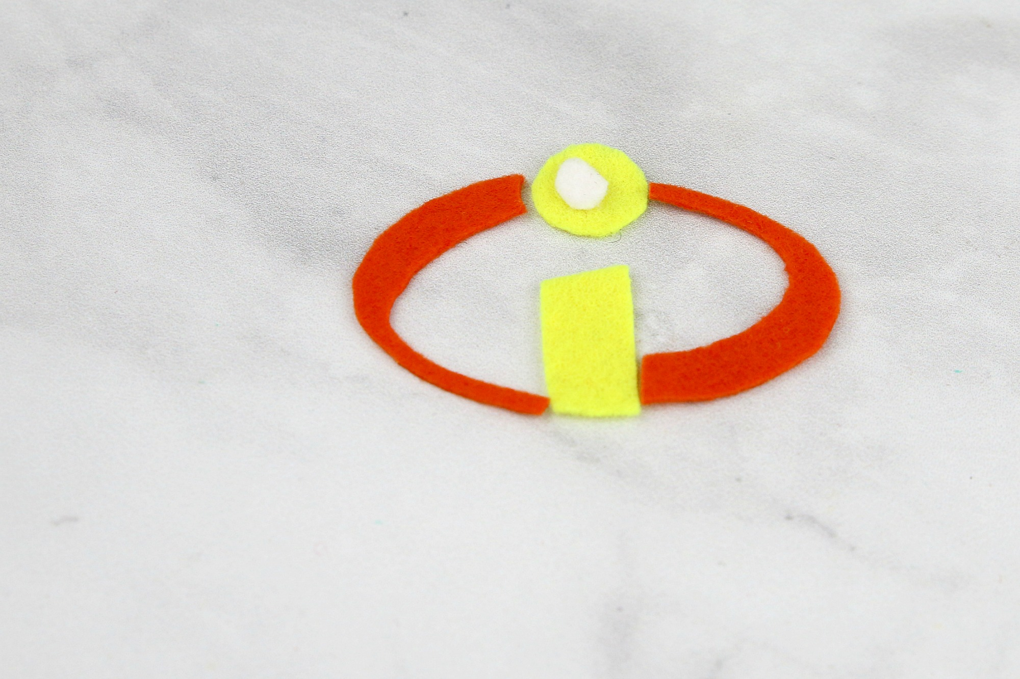 Incredibles Logo made from felt