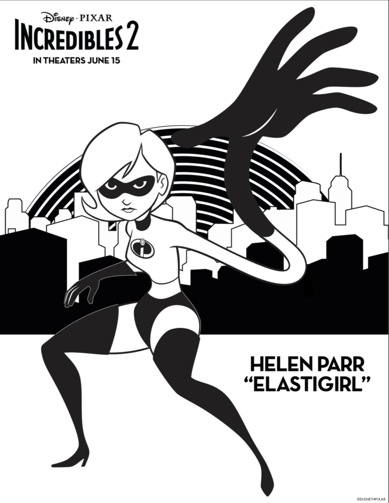 Mrs Incredible Coloring Page
