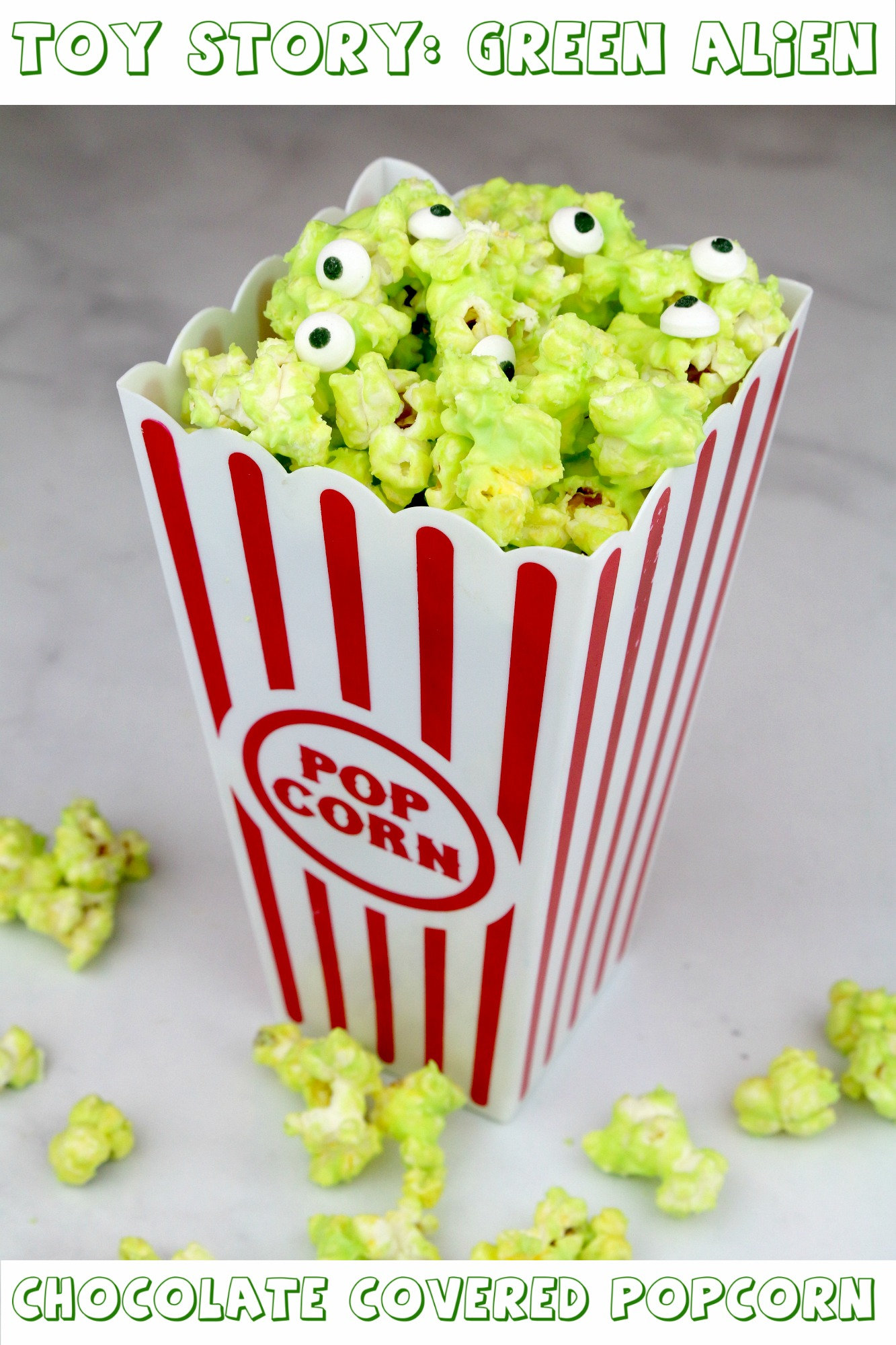 Toy Story Green Alien Chocolate Covered Popcorn