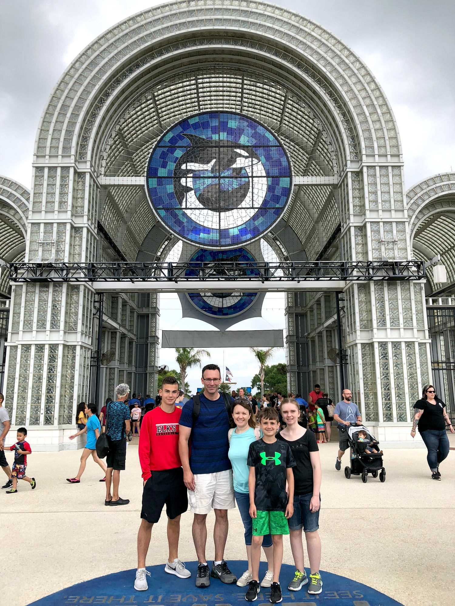 family at SeaWorld 2018